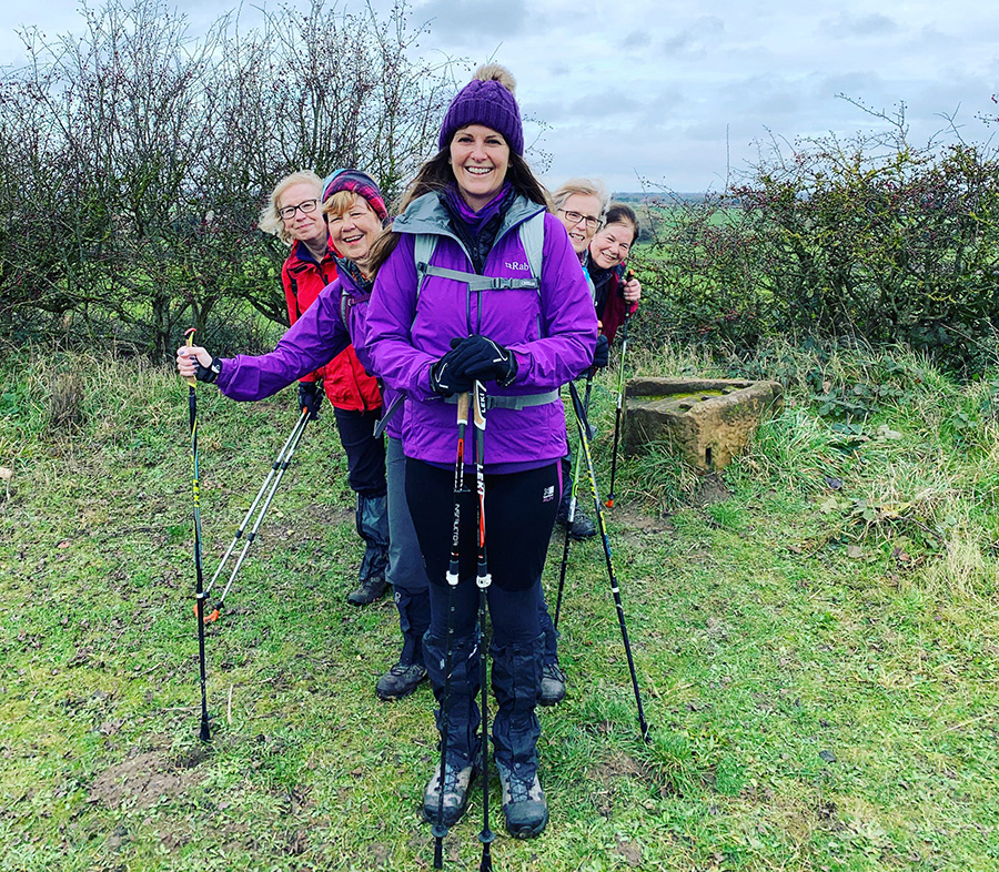Tracy Hall, Nordic Walking